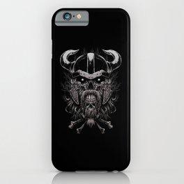 Viking Skull | Warrior Odin Illustration iPhone Case
