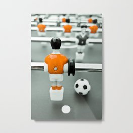 Table Football 02B - Defender - Orange (everyday 30.01.2017) Metal Print