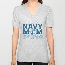 I'M A NAVY MOM Unisex V-Neck