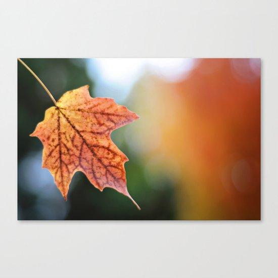 Autumn, the year's last, loveliest smile. Canvas Print