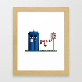 Doctor Who: tardis wardrobe  Framed Art Print