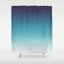 Blue White Gradient Shower Curtain