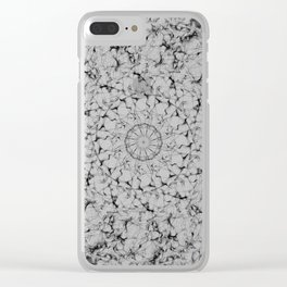 Galaxy Mandala Black & White Clear iPhone Case