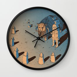 The Bison #1 Wall Clock