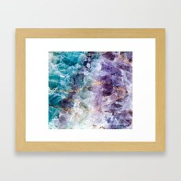 Quartz Stone - Blue and Purple Framed Art Print