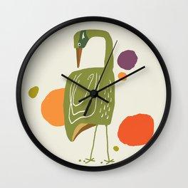 Quirky Brolga Wall Clock