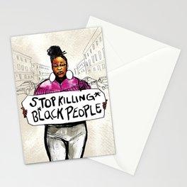 Stop Killing Black People Stationery Cards
