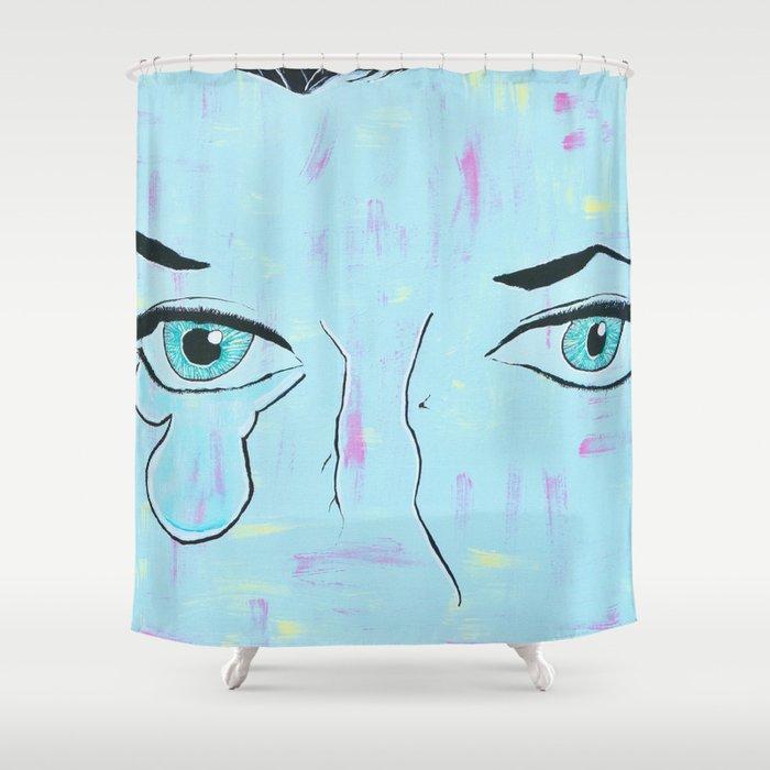 Tear Drop Shower Curtain