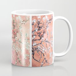 Vincent Van Gogh Almond Blossoms Panel Pink Peach Coffee Mug