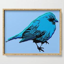 Fat Little Blue Bird Serving Tray