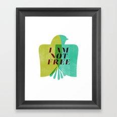 I am not free Framed Art Print