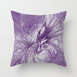 Splatter in Grape Throw Pillow
