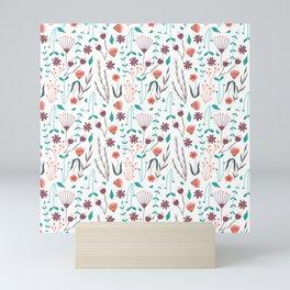 Cute floral tile Mini Art Print