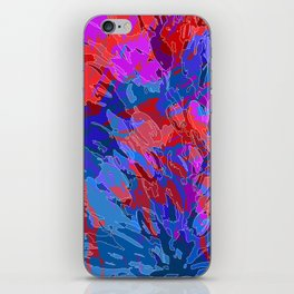 exploding coral iPhone Skin