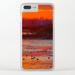 Duck Hole 2 Clear iPhone Case