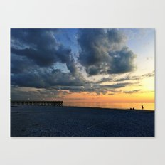 Sunset Yoga Canvas Print