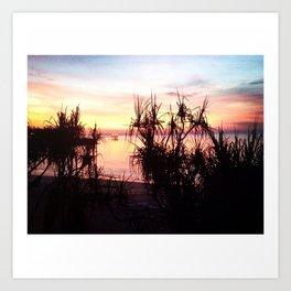 Sunset over Jetty Art Print
