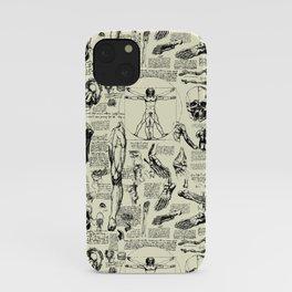 Da Vinci's Anatomy Sketchbook // Parchment iPhone Case