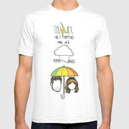 """Thunder only happens when it's raining"" Dan Smith ft Gabrielle Aplin T-shirt"