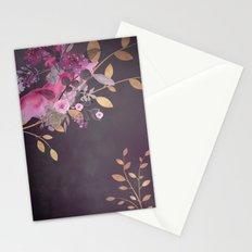 FLOWERS & GOLD  Stationery Cards