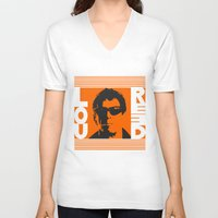 lou reed V-neck T-shirts featuring Lou Reed by Silvio Ledbetter