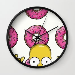 Strange Homer Simpson Wall Clock