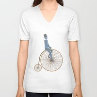 fancy V-neck T-shirts featuring Fancy! by Stephanie Vanelli