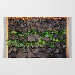 Coal and Leaves 01 Rug