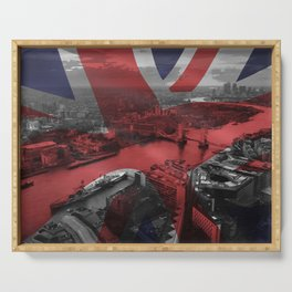 London, Tower Bridge,  Print London, Poster London, Cityscape, Great Britain, Wall art, Serving Tray