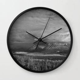 Matanuska Glacier Mono Wall Clock