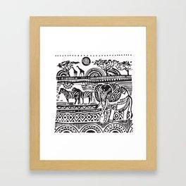 African Tribal Pattern No. 17 Framed Art Print