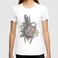 compass T-shirts featuring Compass by Fabio Galuppi INK