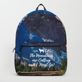 Night Sky Mountain Backpack