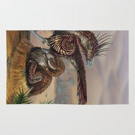 Brooding Velociraptors Rug