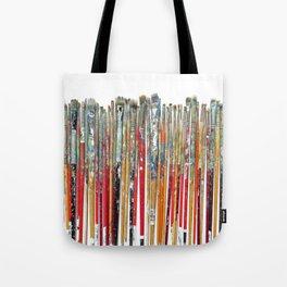 Twenty Years of Paintbrushes Tote Bag
