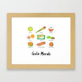 Gula Merah // 03 Framed Art Print