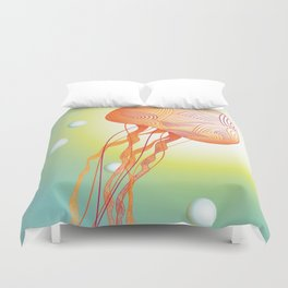 Tertiary Jellyfish Duvet Cover