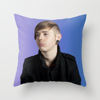 dave matthews Throw Pillows featuring DAVE by vlphotography