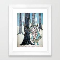 all the big trees Framed Art Print