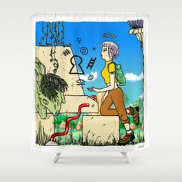 Modem Shower Curtain