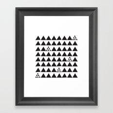 Black geometric print Framed Art Print