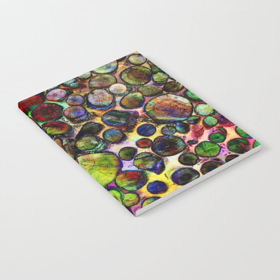 Colored Wood Pile 2 Notebook