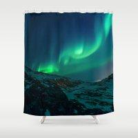 aurora Shower Curtains featuring Aurora by StayWild