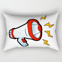 megaphone cartoon Rectangular Pillow