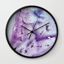 splashes stains paint colored spots gradient Wall Clock