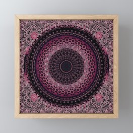 Rosewater Tapestry Mandala Framed Mini Art Print