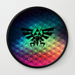 Zelda triforce Wall Clock