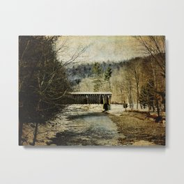Halls Mills Covered Bridge Metal Print