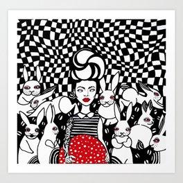 Lady Amanita Art Print
