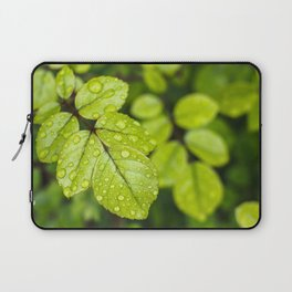 Plant Patterns - Green Scene Laptop Sleeve